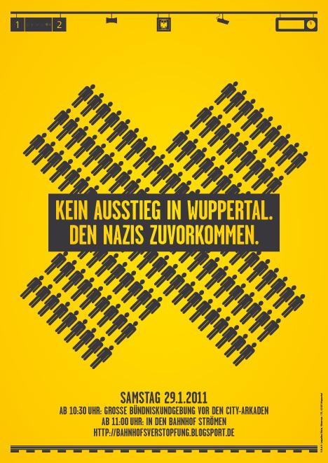 Kampagnenplakat Bahnhofsverstopfung Wuppertal