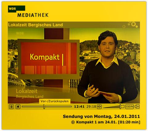 WDR Lokalzeit Bergisch Land//24.01.2011